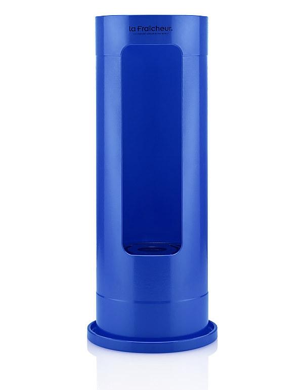 Grand Slam-Wijnkoeler-Premium-La Fraicheur-Blauw-Aluminium-poedercoat-Vooraanzicht-Summeredition-Overzicht