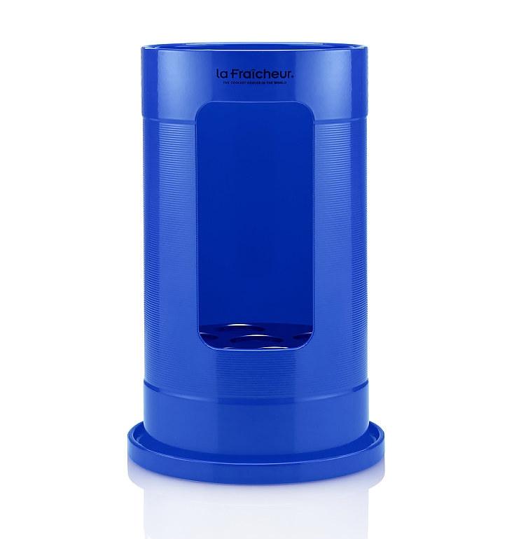 Grand Cru-Wijnkoeler-Premium-La Fraicheur-Blauw-Aluminium-poedercoat-Vooraanzicht-Summeredition-Overzicht